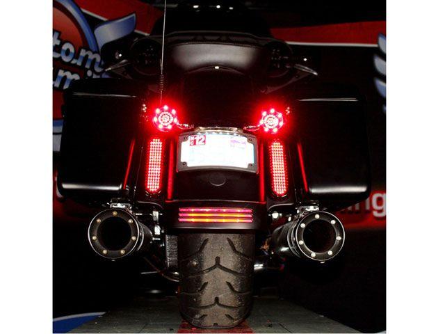 カスタムダイナミクス ハーレー汎用 ホーン・電飾・オーディオ FLATZ LED アクセントライト(レッドレンズ/ブラック)