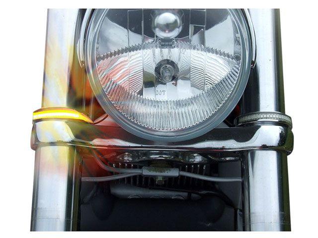 カスタムダイナミクス CUSTOM DYNAMICS ウインカー関連パーツ LED Wrap-Around ウインカー 49mm(クローム/クリアー)