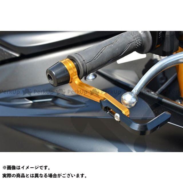 アグラス YZF-R6 レバーガード ガードエンドカラー:ブルー ガードステー:ゴールド ジュラコン:ブラック AGRAS