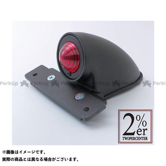 送料無料 2%ER 汎用 テール関連パーツ スパルトテールランプ 日本規格ナンバーサイズ ブラック