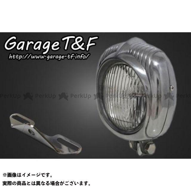 ガレージT&F ドラッグスター1100(DS11) エレクトロライン54レプリカヘッドライト(ポリッシュ)&ライトステー(タイプB)キット ガレージティーアンドエフ