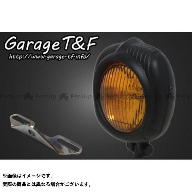 ガレージT&F ドラッグスター400(DS4) ヘッドライト・バルブ エレクトロライン54レプリカヘッドライト(ブラック)&ライトステー(タイプB)キット