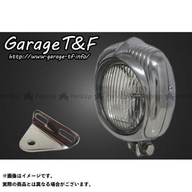 ガレージT&F スティード400 エレクトロライン54レプリカヘッドライト(ポリッシュ)&ライトステー(タイプA)キット ガレージティーアンドエフ