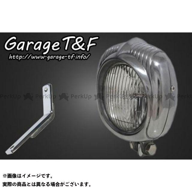 ガレージT&F スティード400 エレクトロライン54レプリカヘッドライト(ポリッシュ)&ライトステー(タイプD)キット ガレージティーアンドエフ