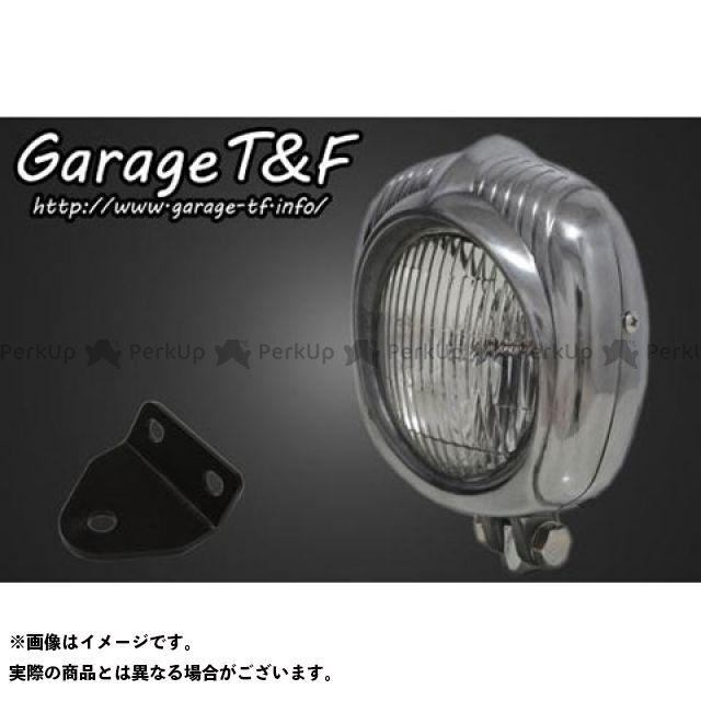 ガレージT&F SR400 ヘッドライト・バルブ エレクトロライン54レプリカヘッドライト(ポリッシュ)&ライトステー(タイプC)キット
