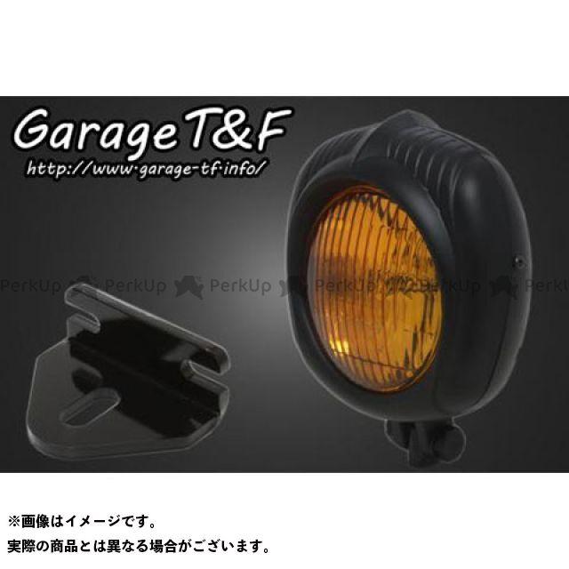 ガレージT&F 250TR エレクトロライン54レプリカヘッドライト(ブラック)&ライトステー(タイプE)キット ガレージティーアンドエフ