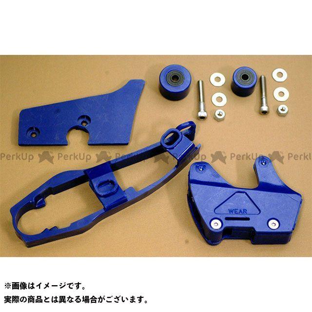 ホットフットモト CR250R CR500R 1985 CR250/500 チェーンスライダー&ローラーセット(ブルー) HOT FOOT MOTO