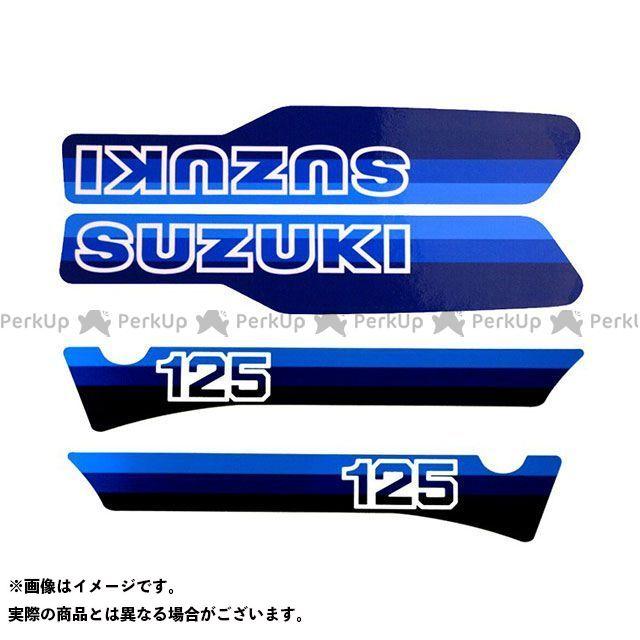 ビンテージスズキ RM125 1981 RM125 コンプリートデカールセット(4pcs) VINTAGE SUZUKI