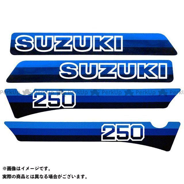 ビンテージスズキ RM250 1981 RM250 コンプリートデカールセット(4pcs) VINTAGE SUZUKI