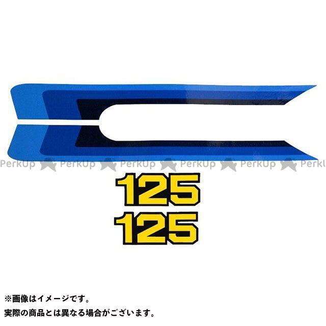 ビンテージスズキ RM125 1980 RM125 サイドカバーデカールセット(4pcs) VINTAGE SUZUKI