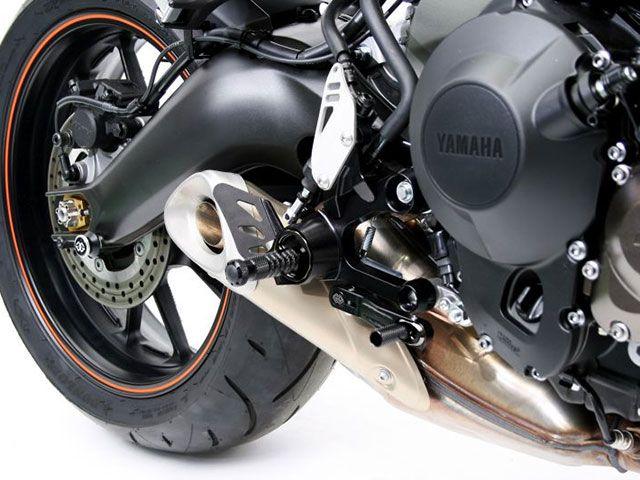ギルズツーリング MT-09 XSR900 バックステップ関連パーツ 可変ステップキット RCT10GT(ブラック/ブラック)