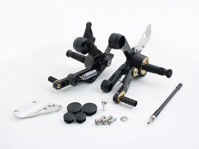 ギルズツーリング MT-09 XSR900 バックステップ関連パーツ 可変ステップキット RCT10GT(ブラック/ゴールド)
