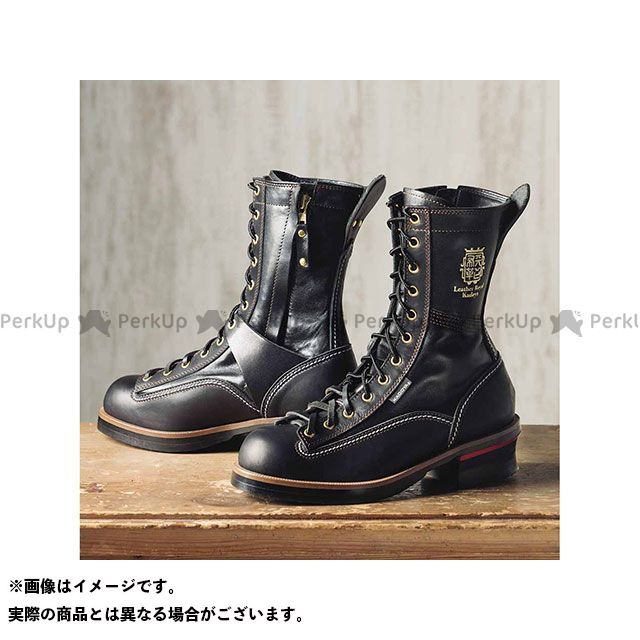 【エントリーで更にP5倍】KADOYA Leather Royal Kadoya No.4320 RIDE LOGGER(ブラック×ブラック) サイズ:27.0cm カドヤ