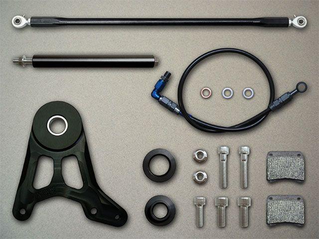 メタルギアワークス CB1100F ブレーキキット ノーマルディスク対応リヤブレーキフローティングKIT/APレーシング製CP2696キャリパー用(CB1100F) ブラック