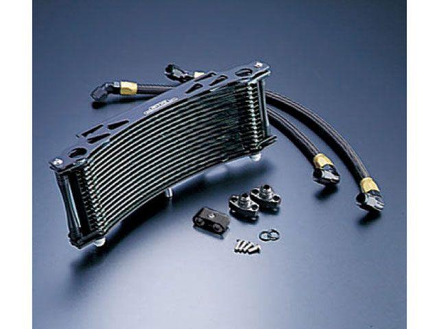 アクティブ XJR1200 XJR1300 オイルクーラー オイルクーラーキット ラウンド #8 11-16R ブラック仕様(サーモ対応キット)