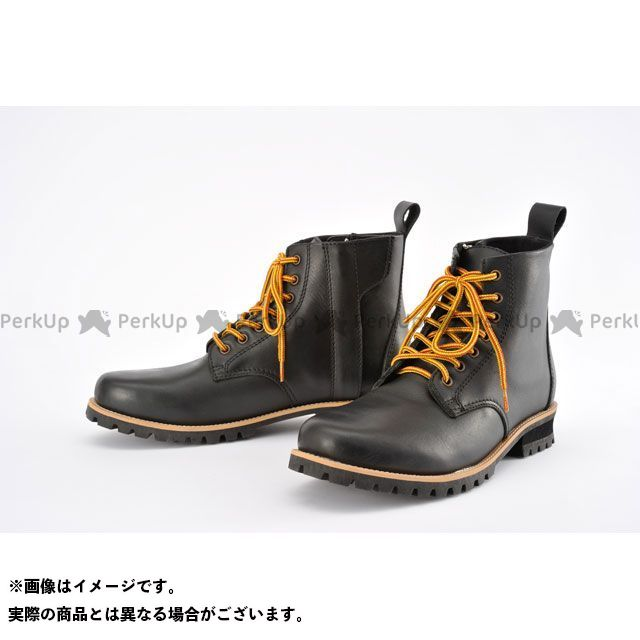 送料無料 ヘンリービギンズ HenlyBegins ライディングブーツ HBS-003 ショートブーツ(ブラック) 26.5cm