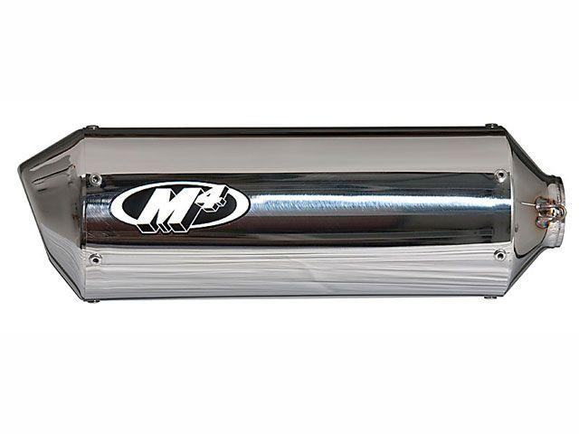 M4パフォーマンス GSX-R750 マフラー本体 スタンダード/レース フルエキゾースト チタンミッドパイプ SU697*MT ポリッシュドサイレンサー