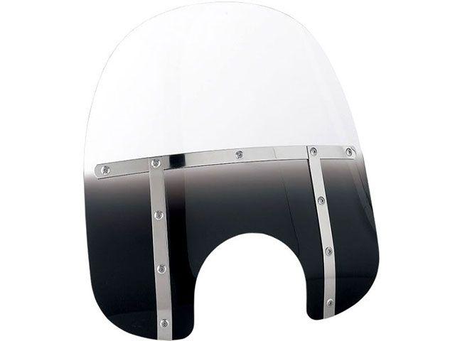 送料無料 メンフィスシェード ダイナファミリー汎用 スクリーン関連パーツ FAT ウインドシールド(ブラックグラデーション) 15インチ