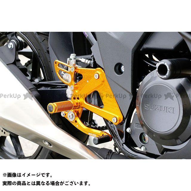 ベビーフェイス GSX250R バックステップキット カラー:ブラック BABYFACE