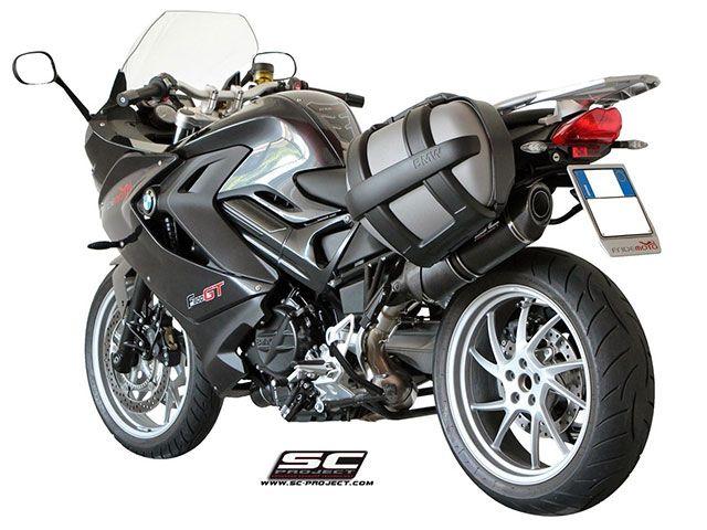 SCプロジェクト F800GT インナーサイレンサー オーバル スリップオンサイレンサー F 800 GT カーボンサイレンサー(カーボン製テイルエンドカバー付き)