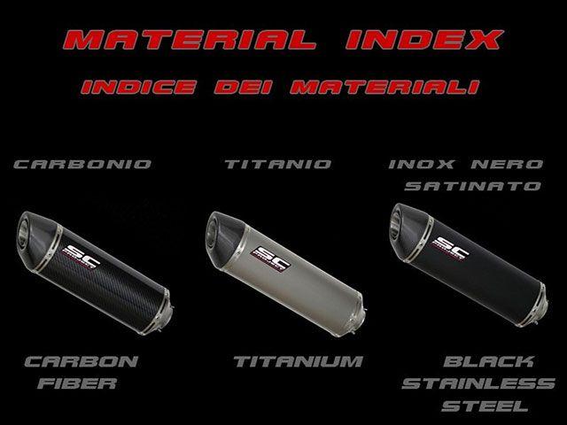 SCプロジェクト GSX-R1000 インナーサイレンサー オーバルスリップオンサイレンサー GSX-R 1000 09-11 カーボンサイレンサー(カーボン製テイルエンドカバー付き)