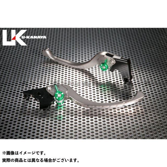 ユーカナヤ ムルティストラーダ1200 ムルティストラーダ1200S ツーリングタイプ アルミ削り出しビレットレバー(レバーカラー:チタン) カラー:調整アジャスター:グリーン U-KANAYA