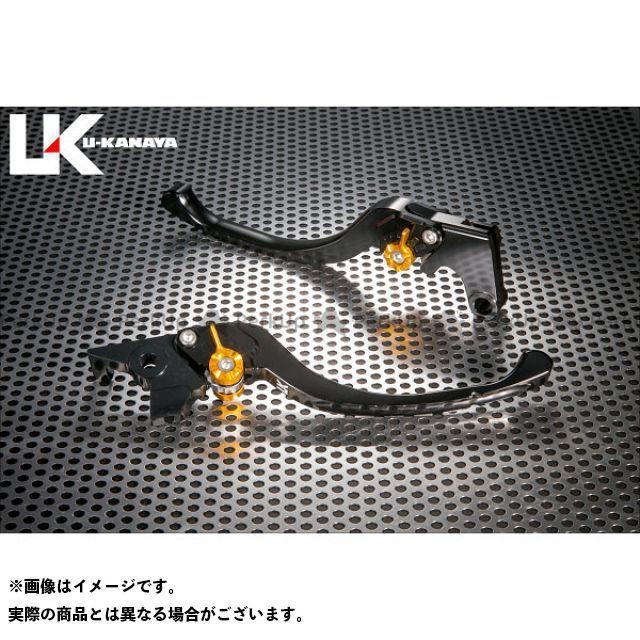 ユーカナヤ F700GS ツーリングタイプ アルミ削り出しビレットレバー(レバーカラー:ブラック) カラー:調整アジャスター:ゴールド U-KANAYA