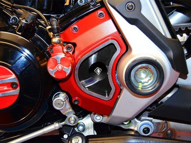 ドゥカバイク Xディアベル スプロケット関連パーツ フロントスプロケットカバー XDIAVEL用 赤