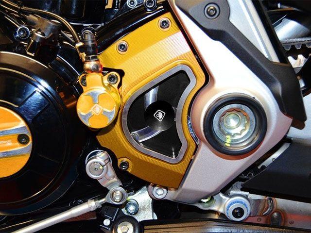 ドゥカバイク Xディアベル スプロケット関連パーツ フロントスプロケットカバー XDIAVEL用 ゴールド