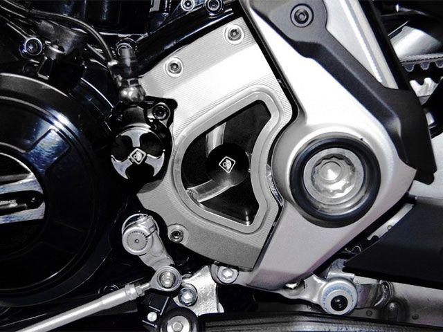 ドゥカバイク Xディアベル スプロケット関連パーツ フロントスプロケットカバー XDIAVEL用 シルバー