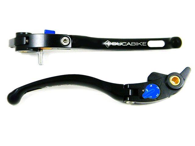 ドゥカバイク DUCABIKE レバー ブレーキ&クラッチレバー ストリートバージョン 黒/青