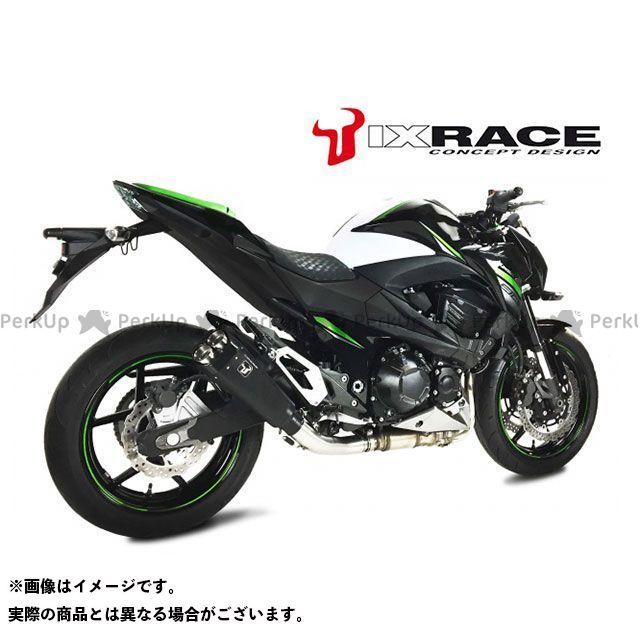 送料無料 IXRACE Z800 マフラー本体 KAWASAKI Z800 13-16 M9B ツインストリート スリップオンマフラー(ブラック)