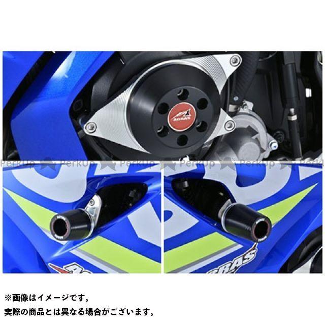 アグラス GSX-R1000 レーシングスライダー ジュラコンカラー:ホワイト タイプ:ロゴ無 AGRAS