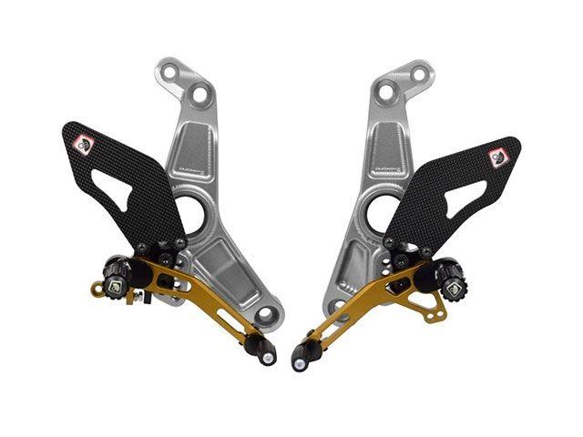 送料無料 ドゥカバイク DUCABIKE バックステップ関連パーツ SUPER SPORT/MONSTER 1200/S 17 用パイロットアジャスタブルバックステップ シルバー/ゴールド