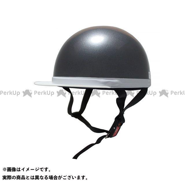 OUTLET SALE ビー 注文後の変更キャンセル返品 BB ハーフヘルメット ヘルメット ガンメタ 白つば半キャップヘルメット