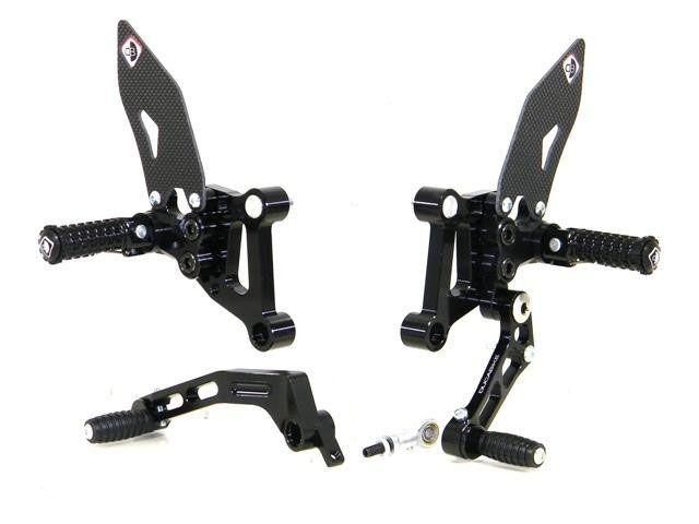 送料無料 ドゥカバイク 1098 1198 848 バックステップ関連パーツ バックステップ SP バージョン ブラック/ブラック