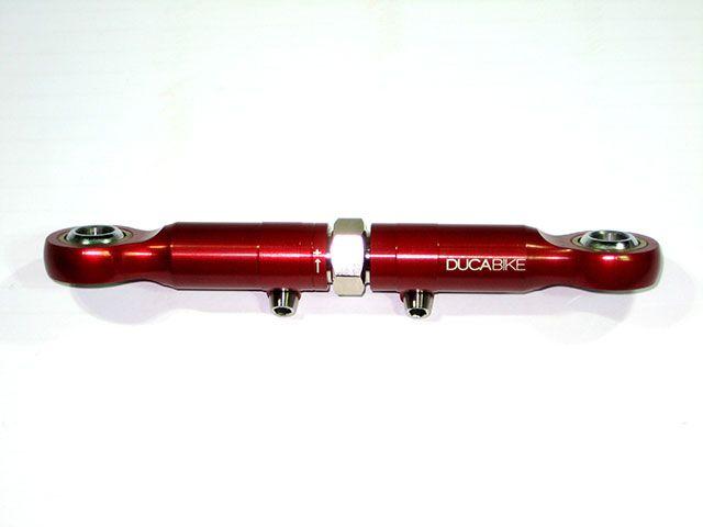 送料無料 ドゥカバイク DUCABIKE 車高調整キット 車高調整 ロッド(リンクロッド) レッド