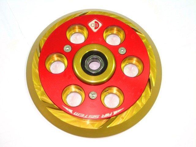 送料無料 ドゥカバイク 汎用 その他外装関連パーツ プレッシャープレート エアー・システム ゴールド/レッド