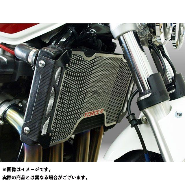 フォルスデザイン CB1300スーパーフォア(CB1300SF) CB1300SF(03-) ラジエターコアガード カスタムタイプ 平織り カラー:メッシュ中央 白エンブレム FORCE DESIGN