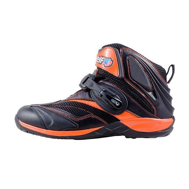 送料無料 elf shoes エルフシューズ ライディングシューズ ELF15 Synthese15(シンテーゼ15) オレンジ 24.0cm
