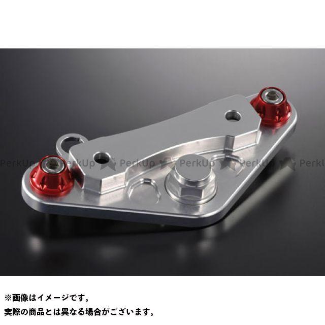 アグラス 純正ハンドル用トップブリッジ 警告灯ステー付/20mmUP フォークトップリテーナー:レッド AGRAS