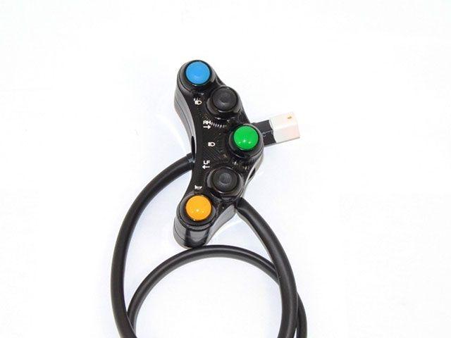 送料無料 ドゥカバイク DUCABIKE 電装スイッチ・ケーブル 7-ボタン レーシングスイッチASSY(ストリート用)MONSTER 696/796/1100/EVO