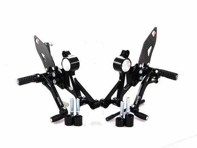 送料無料 ドゥカバイク モンスター1100 モンスター696 モンスター796 バックステップ関連パーツ MONSTER 696/796/1100 バックステップ ブラック/ブラック