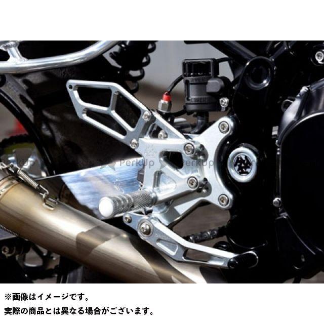 Kファクトリー Z900RS ライディングステップ:ゴムステップ仕様 メタリックシルバー(Z900RS) ケイファクトリー