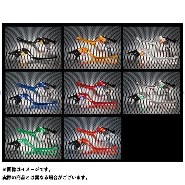 ユーカナヤ ニンジャ400 GPタイプ アルミ削り出しビレットショートレバー(レバーカラー:チタン) カラー:調整アジャスター:オレンジ U-KANAYA