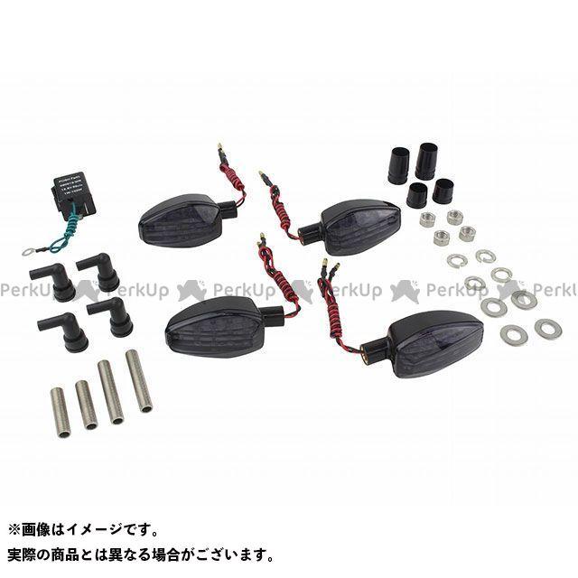 送料無料 ポッシュフェイス GSX250R ウインカー関連パーツ ライトウェイトLEDウインカーキット ブラック クリアー