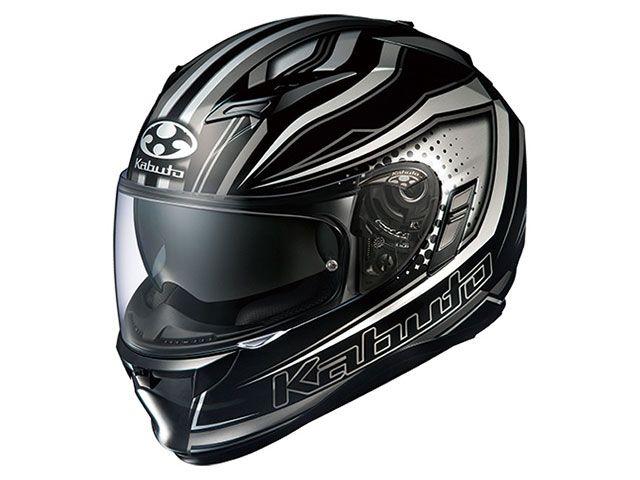 送料無料 OGK KABUTO オージーケーカブト フルフェイスヘルメット KAMUI-II GALAN(カムイ・2 ギャラン) ブラック/シルバー XL/61-62cm未満
