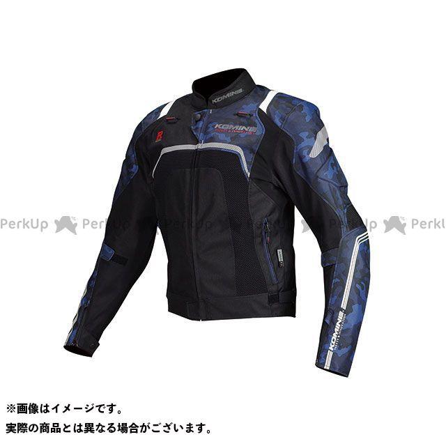 送料無料 コミネ KOMINE ジャケット 2018年春夏モデル JK-124 Rスペックメッシュジャケット(ブルーカモ/ブラック) S