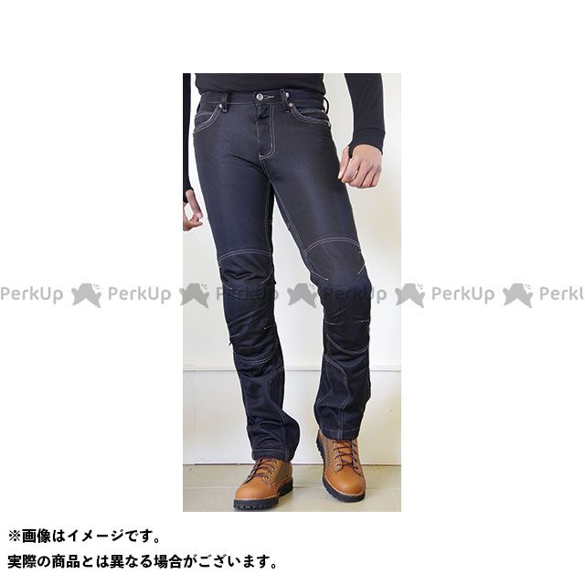 送料無料 コミネ KOMINE パンツ 2018年春夏モデル WJ-740R ライディングメッシュジーンズ(ブラック) 5XLB/46