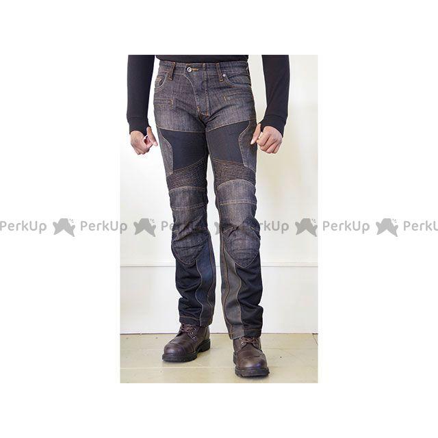 コミネ WJ-741S スーパーフィットプロテクトレザーメッシュジーンズ(ブラック) サイズ:WL/30 KOMINE
